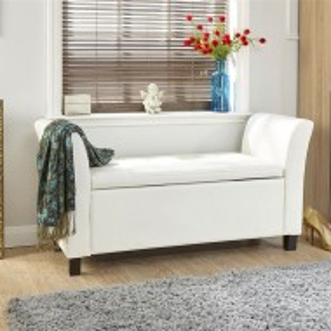 BAA110 - Divan, Canapea, fotoliu, sofa, bancheta, bancuta, banca living, dormitor, hol: Alba, piele ecologica