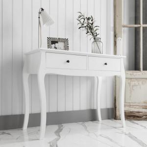 MAA109 - Masa alba toaleta, 100 cm, cosmetica machiaj, masuta vanity, consola, machiaj, make-up - Lisabona