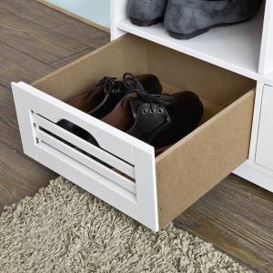 BAA17 - Banca 105 cm pentru Hol, pantofi, depozitare - Alba