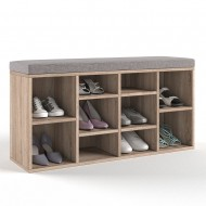 BAM206 - Banca, suport pantofi, pantofar pentru Hol - Maro