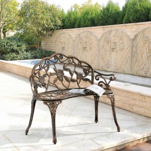 BAM7 - Banca fonta si aluminiu, gradina, terasa, balcon, spatiu verde - Bronz
