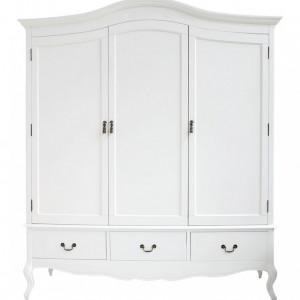 DUA53 - Dulap alb, sifonier dormitor triplu cu 3 sertare - Colectia Genova