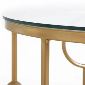 MAAU1 - Masa, masute de cafea rotunden 41 cm, pentru living - Aurii