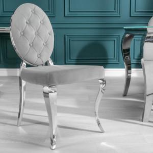 SCAG203 - Scaun tapitat cu picioare din metal, living, dining - Argintiu sau Negru