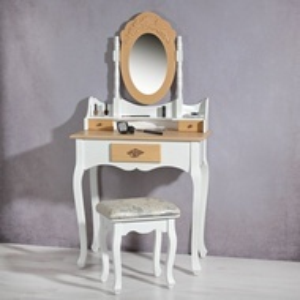 SEA2 - Set Masa Alb-Maro toaleta cosmetica machiaj oglinda masuta
