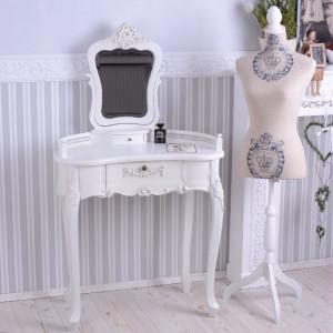 SEA55 - Set Masa alb toaleta cosmetica machiaj oglinda masuta