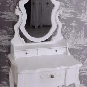 SEA57 - Set Masa alb toaleta cosmetica machiaj oglinda masuta