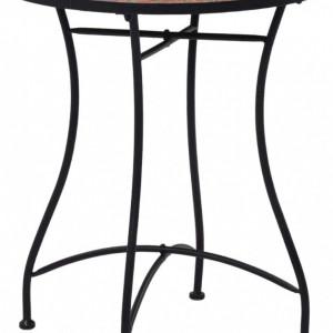 SEGM8 - Set Masa si 2 scaune pliante Mozaic gradina, terasa, balcon - Maro