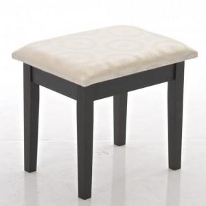 SEM201 - Set Masa toaleta, masuta cosmetica, make-up, machiaj cu oglinda si scaunel, taburet tapitat - Maro / Wenge