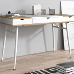BIA506 - Masa de Birou 120 cm, office - Alb cu Maro