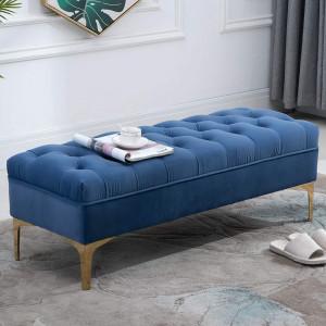 BAAL202 -Bancuta 118 cm, Canapea, fotoliu, sofa, bancheta, banca living, dormitor, hol - Albastru