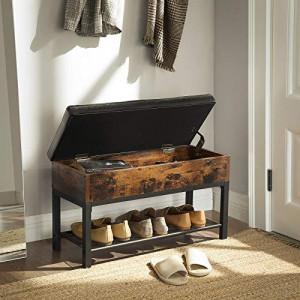BAI1 - Bancuta tapitata 70 cm, pentru hol sau living, pantofar, bancuta depozitare - Maro