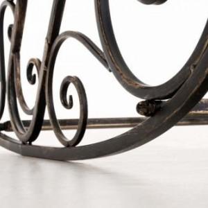 BAM213 - Banca metalica gradina, balcon, terasa: Maro-Bronz, Balansoar