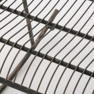 BAM214 - Banca metalica gradina, balcon, terasa: Maro-Bronz, Balansoar