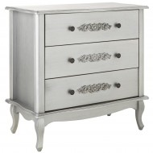 COG101 - Comoda, dulap cu sertare Make Up, machiaj, cosmetice, living, dormitor - Argintie
