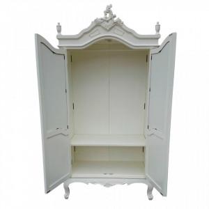 DUA102 - Dulap Sifonier cu oglinda pentru dormitor - Alb