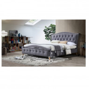 PAG603 - Pat tapitat pentru dormitor - 160/180 x200 - Gri