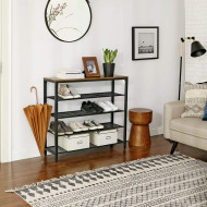 RAI215 - Rafturi birou 100 cm, stil industrial pentru bucatarie, baie, office, living, hol - Maro