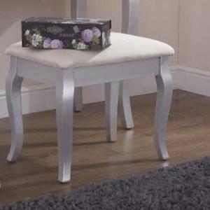 SCAG101 - Scaun scaunel taburet tapitat pentru masuta de toaleta machiaj cosmetica - Argintiu
