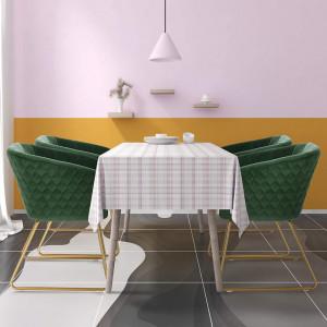 SCAU208 - Scaun masuta toaleta machiaj cosmetica tapitat - Auriu - Verde