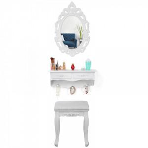SEA216 - Set oglinda, raft si scaun toaleta cosmetica machiaj, vanity