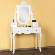 SEA5 - Set masa toaleta, oglinda cosmetica machiaj - vanity table alb