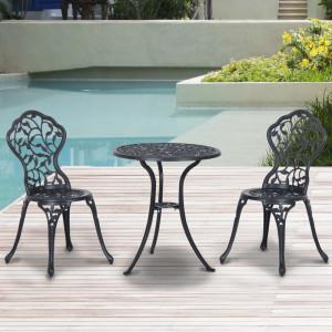 SEGN102 - Set Masa si scaune gradina, terasa, balcon, veranda, spatiu verde - Negru