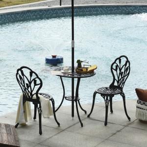 SEGN205 - Set Masa si scaune gradina, terasa, balcon, veranda, spatiu verde - Negre