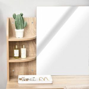 SEM108 - Set Masa toaleta cosmetica 108 cm machiaj masuta vanity, oglinda - Maro