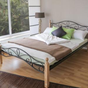 PAM202 - Pat maro - negru dormitor, 140 si 160 x 200 cm