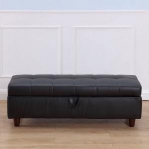 BAA109 - Divan, Canapea, fotoliu, sofa, bancheta, bancuta, banca living, dormitor, hol, piele ecologica - Negru