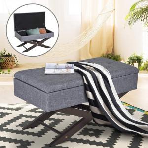 BAG101 -Bancuta, Canapea, fotoliu, sofa, bancheta, banca living, dormitor, hol, lada, ladita depozitare - Gri