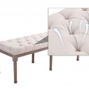 BAM219 - Bancuta 142 cm, Canapea, fotoliu, sofa, bancheta, banca living, dormitor, hol - Crem