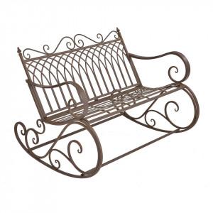 BAM9 - Banca metalica gradina, balcon, terasa: Maro, Balansoar 2 locuri