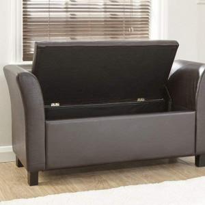 BAN113 - Divan imitatie de piele, 120 cm, Canapea, fotoliu, sofa, bancheta, bancuta cu lada, banca living, dormitor, hol
