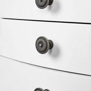 COA55 - Comoda, dulap bijuterii cu 6 sertare si oglinda - Alb