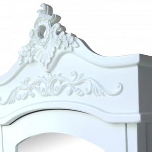 DUA103 - Dulap Sifonier cu oglinda si sertare pentru dormitor - Alb