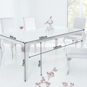 MAG201 - Masa 180 cm pentru 8 persoane, living, dining - Argintiu sau Negru