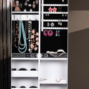 OGA601 - Oglinda caseta de bijuterii, dulap, dulapior dublu cu picioare dormitor, dressing - Alb