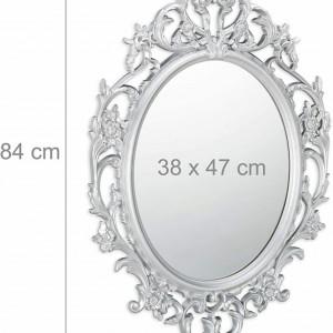 OGG201 - Oglinda perete ornamentala dormitor, living, baie - Argintie