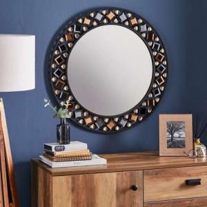 OGN107 - Oglinda perete ornamentala dormitor, living, baie - Neagra