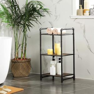 RAI212 - Rafturi birou 39.5 cm, stil industrial pentru bucatarie, baie, office, living, hol - Maro
