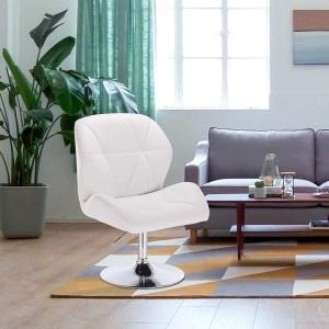 SCA209 - Scaun tapitat diverse culori pentru masa toaleta, birou, bar, imitatie de piele, inaltime reglabila