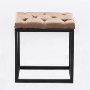 SCA602 - Scaunel tapitat, scaun, taburet masuta, masa toaleta, machiaj - Alb cu diverse tapiterii