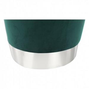 SCAG603 - Scaun tapitat, masa toaleta, taburet machiaj - Argintiu-Verde