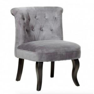 SCN13 - Scaun masuta toaleta machiaj cosmetica, fotoliu, scaunel, divan - tapitat gri