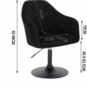 SCN205 - Scaun tapitat Nergru catifelat pentru masa toaleta, birou, bar, lounge, inaltime reglabila