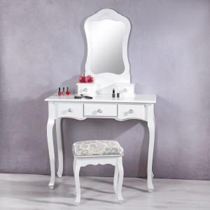 SEA20 - Set Masa alba toaleta cosmetica machiaj oglinda masuta vanity
