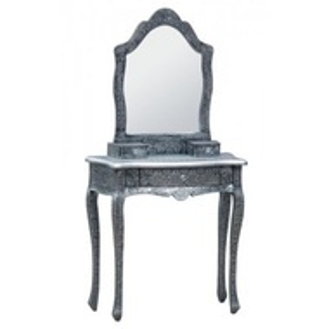SEG103 - Set Masa Argintie toaleta cosmetica machiaj oglinda masuta
