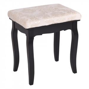 SEN114 - Set Masa neagra toaleta cu 4 sertare cosmetica machiaj oglinda masuta si scaun